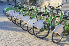 Public bicycles. Royalty Free Stock Images