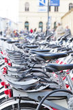 Public bicycles in Munich downtown Royalty Free Stock Photo