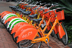 Public bicycles in Nanhai Stock Photography