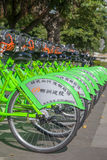 Public bicycles rental,Liuzhou,China Royalty Free Stock Photo