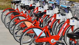 Public Bike Rentals Royalty Free Stock Photo