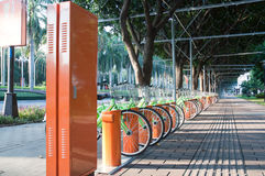 Public bike system in China Royalty Free Stock Image