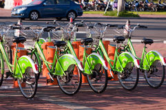 Public bike system in China Stock Images