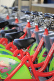 Public bike transportation system in amoy city Royalty Free Stock Images