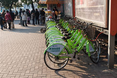 Public bike at Wuhan China royalty free stock photos