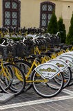 Public bikes of Brasov Stock Images