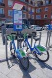 Public bikes in Calais Stock Images