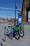 Public bikes in Calais Stock Photography