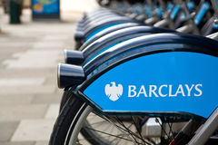Public bikes of London Royalty Free Stock Images