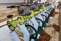 Public Bikes in Okayama Stock Image