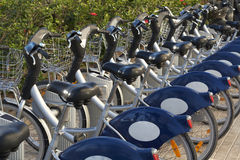 Public Bikes for Rent Royalty Free Stock Photo