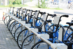 Public bikes for a ride around the city Royalty Free Stock Photography