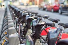 Public bikes share station royalty free stock photos