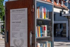 Public Bookcase in the city of Bayreuth Royalty Free Stock Photos