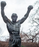 Public boxer of Philadelphia stock photo