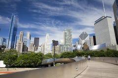 Public BP walkway in Millenium park Chicaco Stock Image