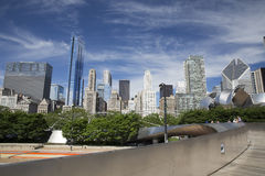 Public BP walkway in Millenium park Chicaco Royalty Free Stock Photo
