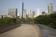 Public BP walkway in Millenium park, Chicago, Il, USA Royalty Free Stock Photo