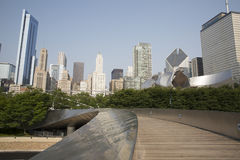 Public BP walkway in Millenium park, Chicago, Il, USA Royalty Free Stock Image