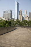 Public BP walkway in Millenium park, Chicago, Il, USA Royalty Free Stock Photos