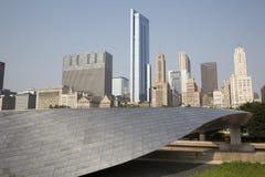 Public BP walkway in Millenium park, Chicago, Il, USA Stock Photos