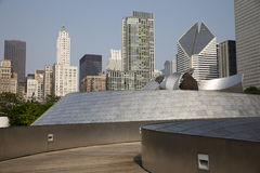 Public BP walkway in Millenium park, Chicago, Il, USA Royalty Free Stock Photography