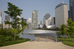 Public BP walkway in Millenium park, Chicago, Il, USA Royalty Free Stock Images