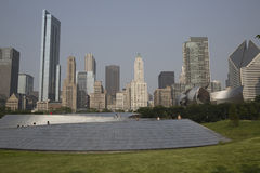 Public BP walkway in Millenium park, Chicago, Il, USA Stock Image