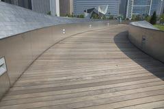 Public BP walkway in Millenium park, Chicago, Il, USA Stock Photo