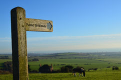Public Bridleway sign. Stock Photography