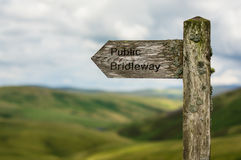 Public bridleway sign Royalty Free Stock Images