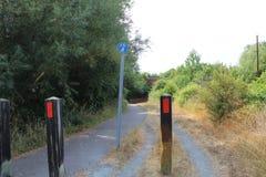 Public Bridleway under A130 stock image