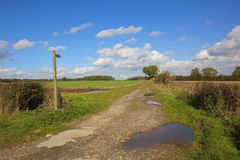Public bridleway Royalty Free Stock Images