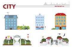Public building. Set 6 vector illustration