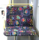 Public bus double seat Stock Photo