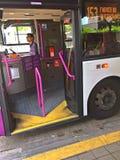 Public bus driver, Singapore Royalty Free Stock Photo