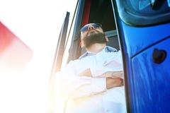 Public bus driver. Stock Photo