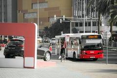 Public Bus in Dubai Stock Image