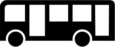 Public bus icon. Coach vector Stock Photography
