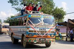 Public Bus in Nepal Stock Photo