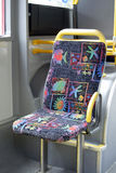 Public bus seat Royalty Free Stock Photography