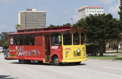 Public bus in St Petersburg Florida USA Royalty Free Stock Photo