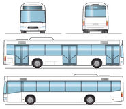 Public Bus Template. Layout for presentation Stock Photo