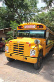 Public bus to Copan Ruinas, Honduras, the famous Mayan archeological site Stock Photo