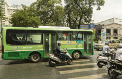 Public buses in Ho Chi Minh city Royalty Free Stock Photo