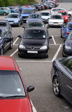 Public car park. Part of a public car park - pay and display royalty free stock photography