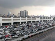 Public car park at the Bangkok stock photography