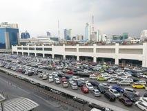 Public car park at the Bangkok royalty free stock photography