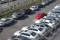 Public  car park in shanghai Stock Image