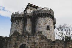 Public castle of granadilla in caceres royalty free stock image